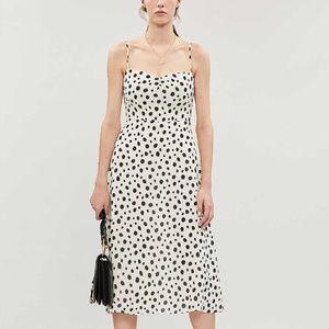 Reformation Odele Dress polka dot midi dress